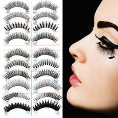 10 Pairs Mixed Styles False Eyelashes Party Beauty Lashes