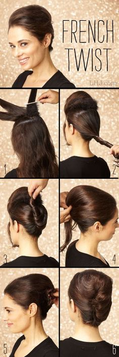 The French twist - seems a simple one to do!