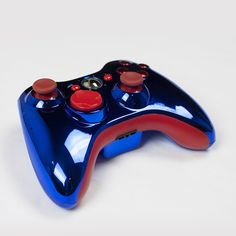 Blue Red Xbox 360 Controller