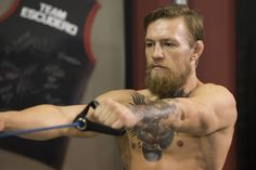 resistance band exercise by Conor McGregor (best fighter #beard) : if you love #MMA, you'll love the #UFC & #MixedMartialArts inspired fashion at CageCult: http://cagecult.com/mma