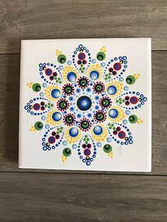 Dit item is niet beschikbaar Mandala Art, Mandala Canvas, Mandala Rocks, Mandala Painting, Mandala Design, Dot Art Painting, Ceramic Painting, Painted Pots, Hand Painted