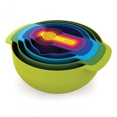 Joseph Josephs Nest Plus 9: 9-Piece Multi-Colored Set. Would love to have this in my baking cupboard