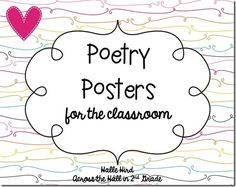 From Across the Hall in Second Grade: Poetry Posters