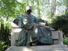 One of the most photographed photos in Budapest is the fantasy film like figure of an anonymous writer: the Statue of Anonymous is in front of the Vajdahunyad Castle in the City Park, Budapest, Hungary from: http://en.wikipedia.org/wiki/File:Budape%C5%A1%C5%A5_0158.jpg