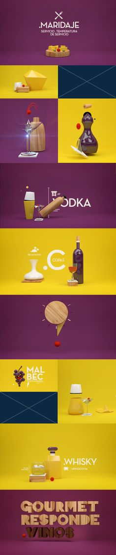 Motion Design boards and style frames. GOURMET RESPONDE. VINOS on Behance