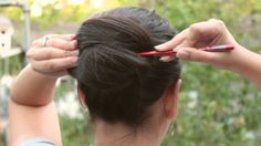 How To Fix Long Hair with chopsticks, this is an easy one