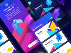 Screens WIP - UX Flashcard by Abinash Mohanty