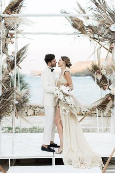 Extravagant Destination Wedding at Mykonos Wedding Vendors, Wedding Blog, Destination Wedding, Wedding Planning, Wedding Ceremony Decorations, Ceremony Backdrop, Wedding Arches, Chuppah, Island Weddings