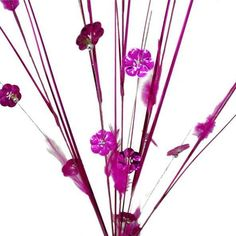 6 x Shiny Blossoms with Small Beads and Feathers on Long Stems - Lavender    Create a mesmeric wedding ambiance or party dcor with this splendid masterpiece that blends the exquisite attributes of shiny flowers, lustrous beads, glimmering glitters and furry feathers altogether in one eye-catching stroke of genius. All the wonders of nature are packed beautifully in this one bunch of elegance. The softness of feathers, the seamless sheen of blossoms and pearls, and the twinkling of glitters…