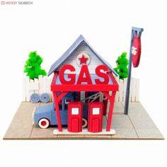 [Miniatuart] Miniatuart Mini : Gas station (Assemble kit) (Model Train) Item picture1
