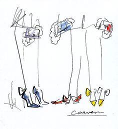 d7a4b91bd017d8 miyuki ohashi drawing Carven resort 2012 Shoe Drawing