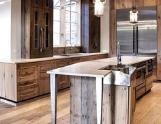Interior Inspiration: 13 Fresh Kitchen Trends in I love the wood cabinets!
