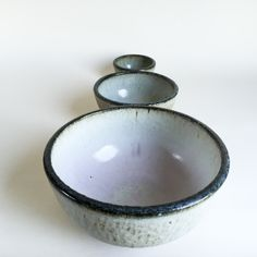 NESTING BOWL SET ceramic, pottery, soup, noodle, mixing, cereal, ramen, pho, salad, pasta, chili, rice, bowls by KimHauCeramics on Etsy