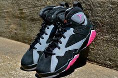 wholesale dealer d85d9 b64e0 Big Boys Shoe Air Jordan 7 Youth SPORT FUCHSIA Cool Gray Wolf Grey 442960  008