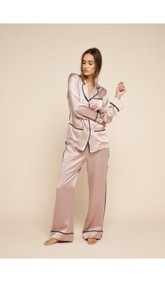 Designed exclusively in collaboration with iconic London department store Selfridges, the Coco Laila silk pyjama sees Olivia von Halle's classic 'Coco'