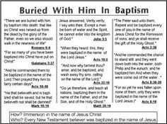 """There is only one Scriptural method of baptism prescribed by the Word of God--immersion. Repentance in the Bible is symbolic of death—death to the sins & ungodliness of life before meeting Jesus Christ. Spiritually speaking, when a man comes to an altar of repentance, he is actually coming to the cross of Calvary. Old carnal natures are crucified with Christ. After death (to sins) it is a """"must"""" to be buried. (Rom 6:4)  In baptism He is followed to the grave and """"we are buried with Him."""""""