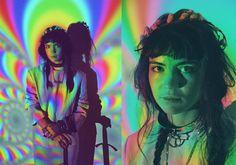 "girlsandguns: "" Grimes by Petra Collins for Nero Magazine "" Claire Boucher, Petra Collins, Projector Photography, Film Photography, Image Princesse Disney, Photographie Portrait Inspiration, Photoshoot Concept, Creative Portraits, Music"