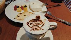 Moomin cheese cake & latte