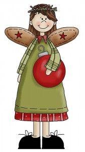 Santa and his Helpers Clip Art. Christmas Rock, Christmas Makes, Christmas Angels, Christmas Ornament, Christmas Applique, Christmas Clipart, Tole Painting, Painting On Wood, Illustration Noel