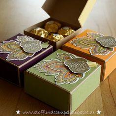 Stoff und Stempel - Herbstliche Pizzabox mit Blättertanz