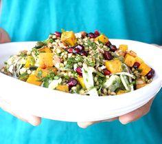 squash wheat berry salad from @FarmonPlate    vegan
