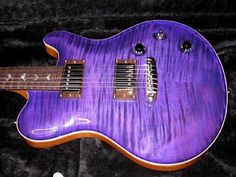 My dream electric guitar!  Purple AND birds on it!