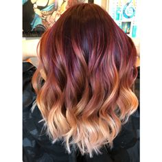 Trendy Hair Color : Check out these gorgeous burgundy hair colors for a sexy, sultry look that will … - Hairstyles For All Ombre Hair Color, Cool Hair Color, Fall Hair Colors, Dark Ombre Hair, Red Blonde Hair, Red Balayage Hair Burgundy, Burgundy Hair With Highlights, Brown Hair, Black Hair