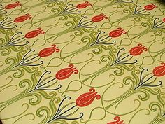 Art Nouveau Jacquard Curtain Upholstery Fabric