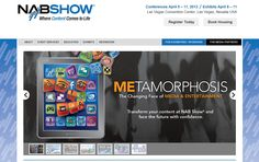 Show Promotion Website Honorable Mention  Don Schaaf & Friends, Inc. (ds+f)2012 NAB Show Over 150,000 nsf