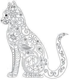 89 Meilleures Images Du Tableau Coloriage Mandala Chat Coloring