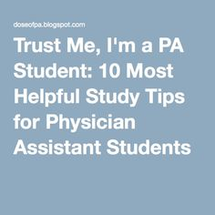 Am i smart enough to be a pysician assistant?