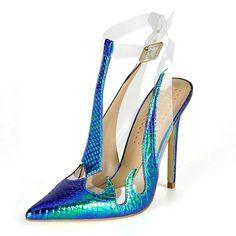 Blue Mermaid Heels. Mermaid HeelsHigh Heel PumpsWomen s PumpsWomen  SandalsShoes ... 82fdd553c6fd