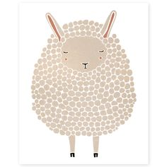 The Curly Sheep Illustration – babasouk.ca : The perfect illustration to add an artsy touch to your little munchkin's room! He/She will probably want to give it a real name and you will have...