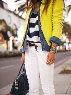 How To: layering fro Spring {stripes & citron}