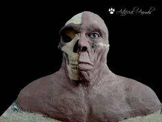 Homo neanderthalensis. Reconstrucción forense sobre el cráneo. Skull, Art, Extinct Animals, Museums, Art Background, Kunst, Performing Arts