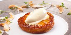 Tarte tartin ananas, crème glacée noix de coco et citronelle !