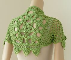 Celtic Knot Crochet - This is called the Glendalough Shrug and was created by Jennifer E. Ryan.