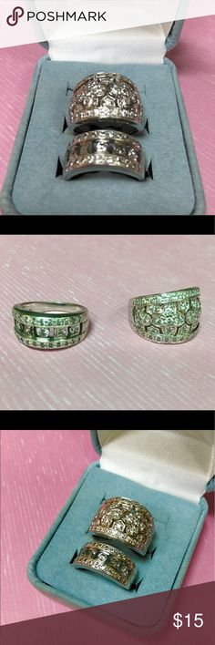 Beautiful Diamondique Epiphany Rings The Epiphany Collection uses Platinum Clad sterling silver to create a timeless look at a fraction of the cost of platinum. Beautiful simulated diamond rings to wear daily or out on the town. 2 for the price of one! Jewelry Rings