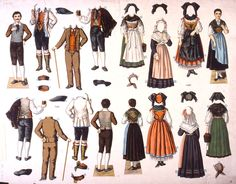 Maquettes de différents costumes alsaciens Alsace Lorraine, Strasbourg, Folk Costume, Black Forest, Traditional Outfits, Cosplay Costumes, Character Design, Germany, Culture