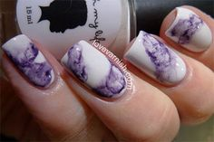 Without Water Marble Nails Art