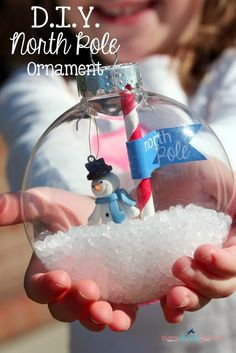 Make this cute DIY North Pole Ornament!! Stacy from She's Kinda Crafty shows us how!