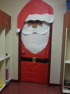Santa Classroom Door Decoration - Christmas classroom door
