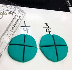 Comparing Fractions with Play Doh...step by step of how they did it on the blog post