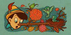 A Brief Look: Illustrator Dave Quiggle's Disney   Evil Tender Dot Com