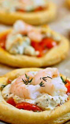 Shrimp and Goat Cheese Tarts ~ An elegant and delicious appetizer for any party.