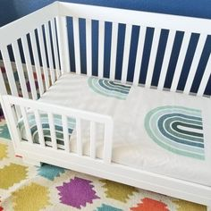Magnificent photo - have a look at our articles for a lot more inspirations! Crib Bedding Boy, Boho Bedding, Crib Mattress, Crib Sheets, Pack And Play Sheets, Rainbow Bedding, Rainbow Baby, Rainbow Print, Moses Basket