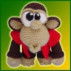 Monkey in Jacket Crochet Pattern (pay $6.68)
