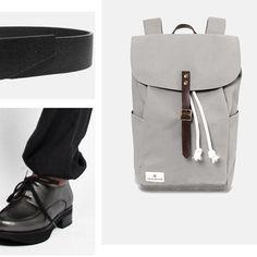 XMAS GIFTS #anglestore #xmas #backpack #minimal #leather #grey