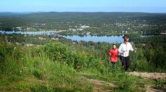 View from Ounasvaara fell, near Santasport and Rovaniemi city centre.