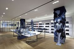 Love the jeans-covered columns. Really makes sense for a store (Selfridge's London denim store) that sells jeans...